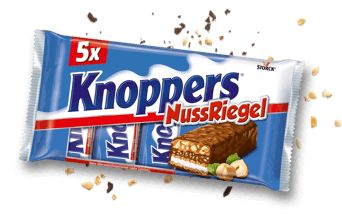 Knoppers NussRiegel Pack de 5